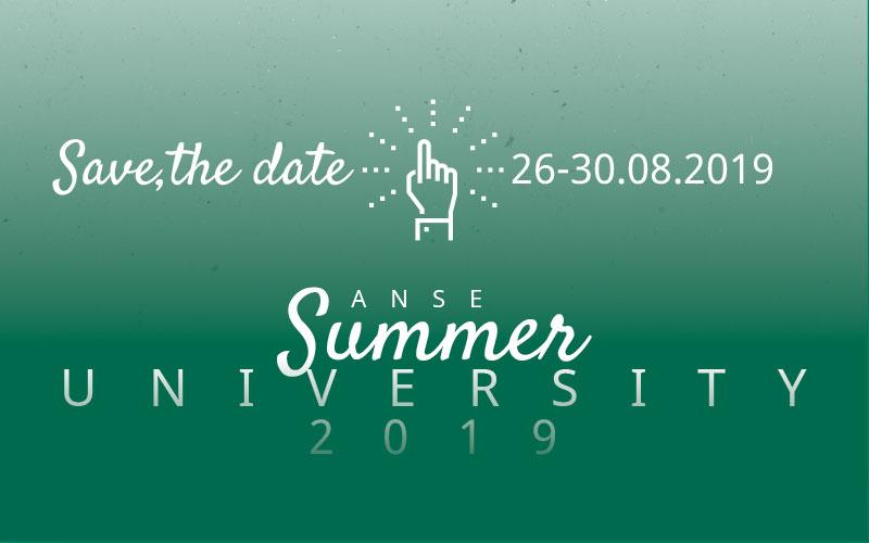 Save the date: Anse Summer University 2019 in Bolzano/Bozen, 26-30. August 2019