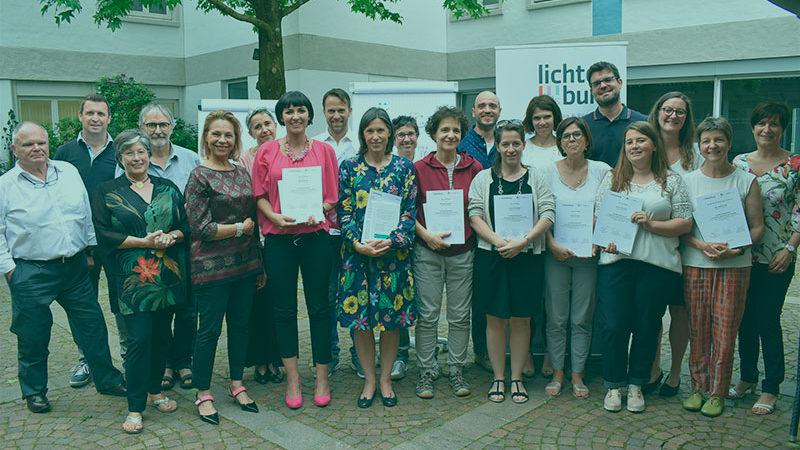 Berater für Berater sein. BSC Lehrgang supervision und coaching. Übergabe der Diplome im Bildungshaus Lichtenburg in Nals.